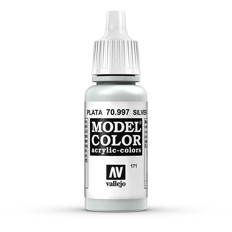 Vallejo Model Color Paint - Silver, 17ml
