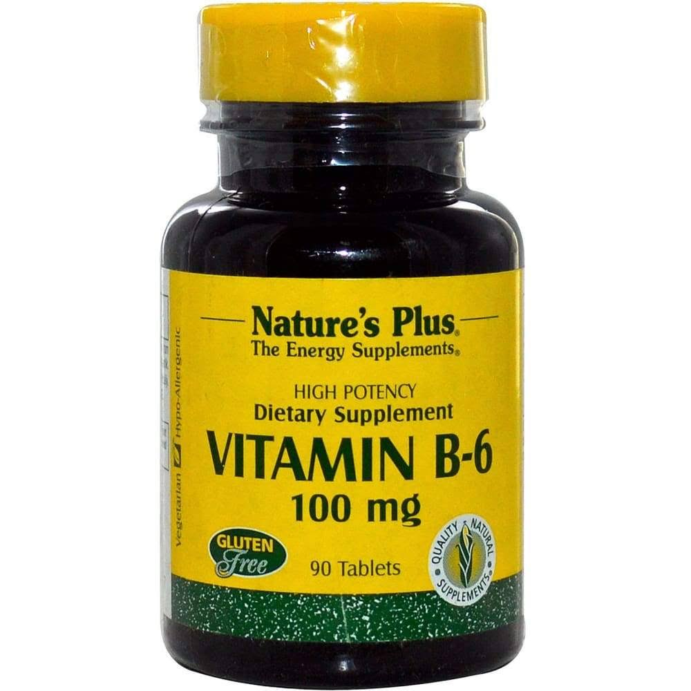 Nature's Plus Vitamin B-6 100mg Tablets - x90