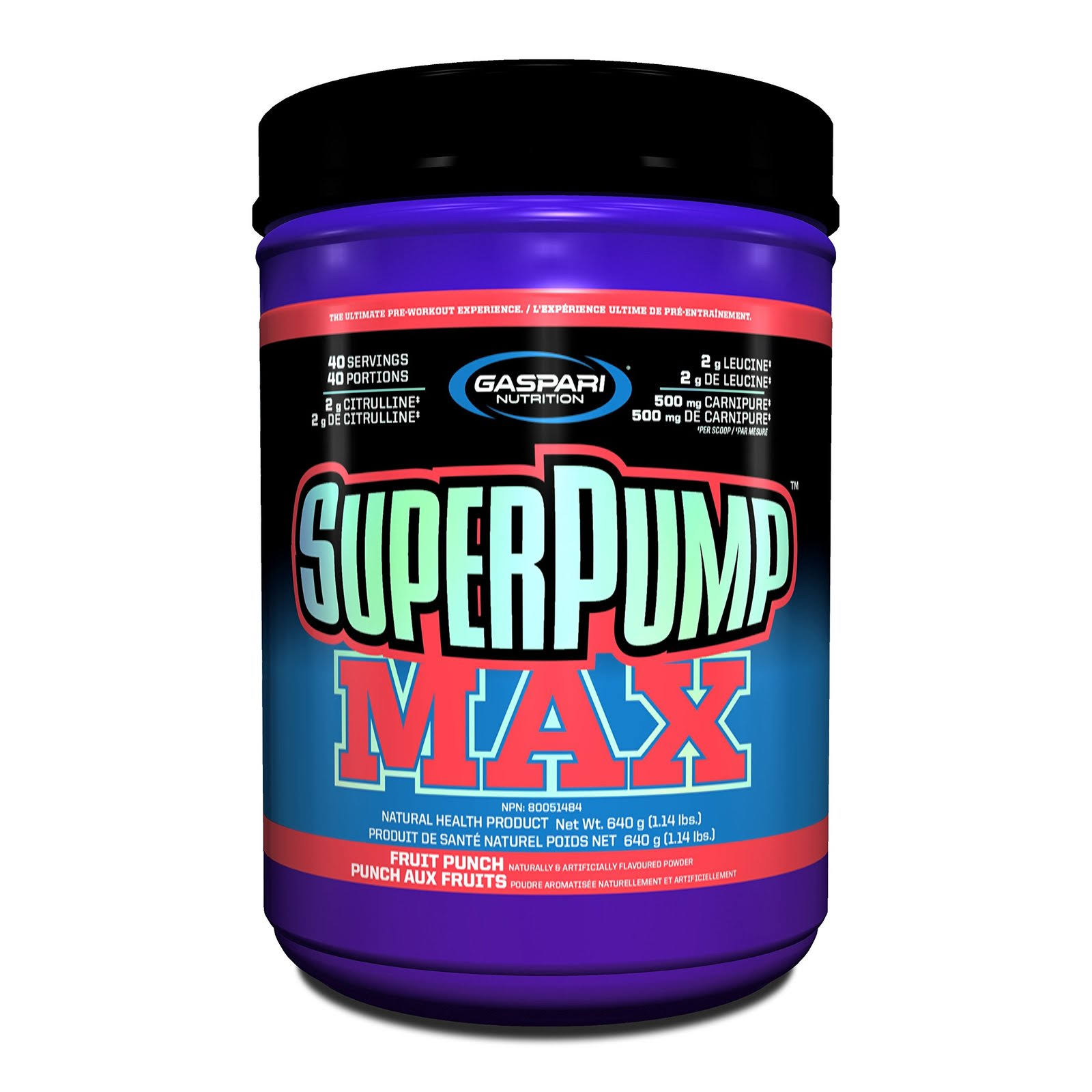 Gaspari Nutrition Super Pump Max Supplement - Fruit Punch, 1.41lb