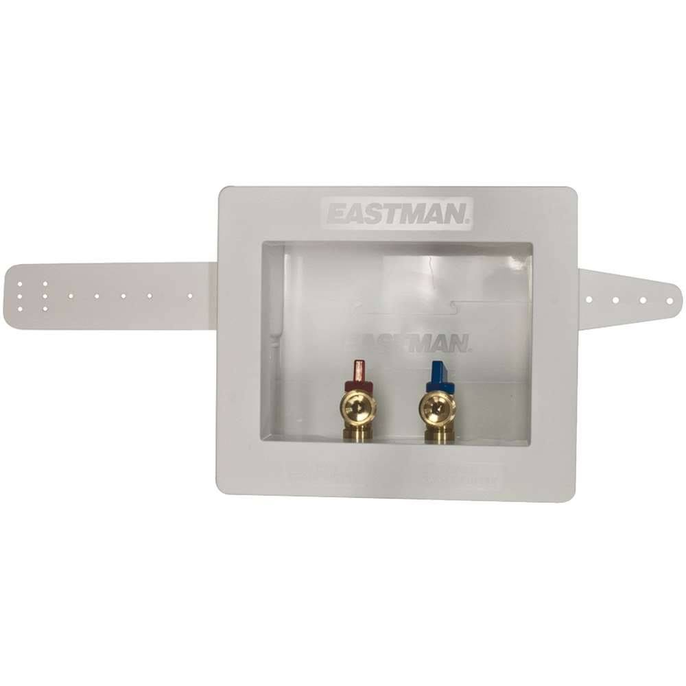 Eastman Sweat Dual Outlet Washing Machine Outlet Box - 1/2""