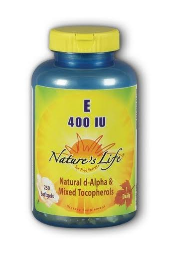 Natures Life Vitamin E Dietary Supplement - 400iu, 250ct