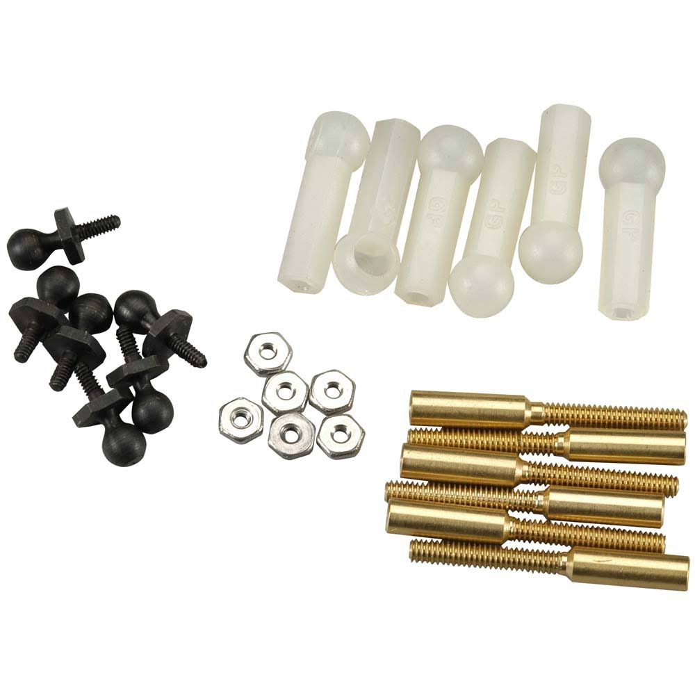 Great Planes Threaded Ball Link Set - 1/16 Scale, Set of 6