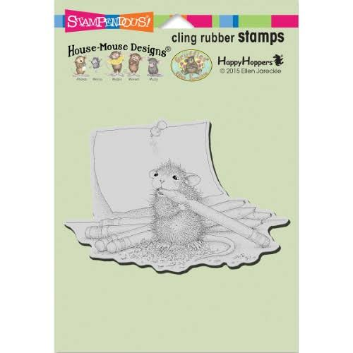 Stampendous House Mouse Cling Rubber Stamp - Pencil Sharpener