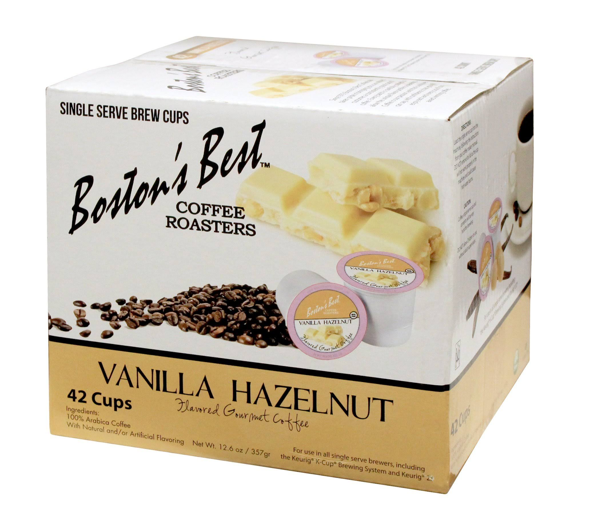 Boston's Best Single Serve K-Cup Coffee, Vanilla Hazelnut, 42 Count