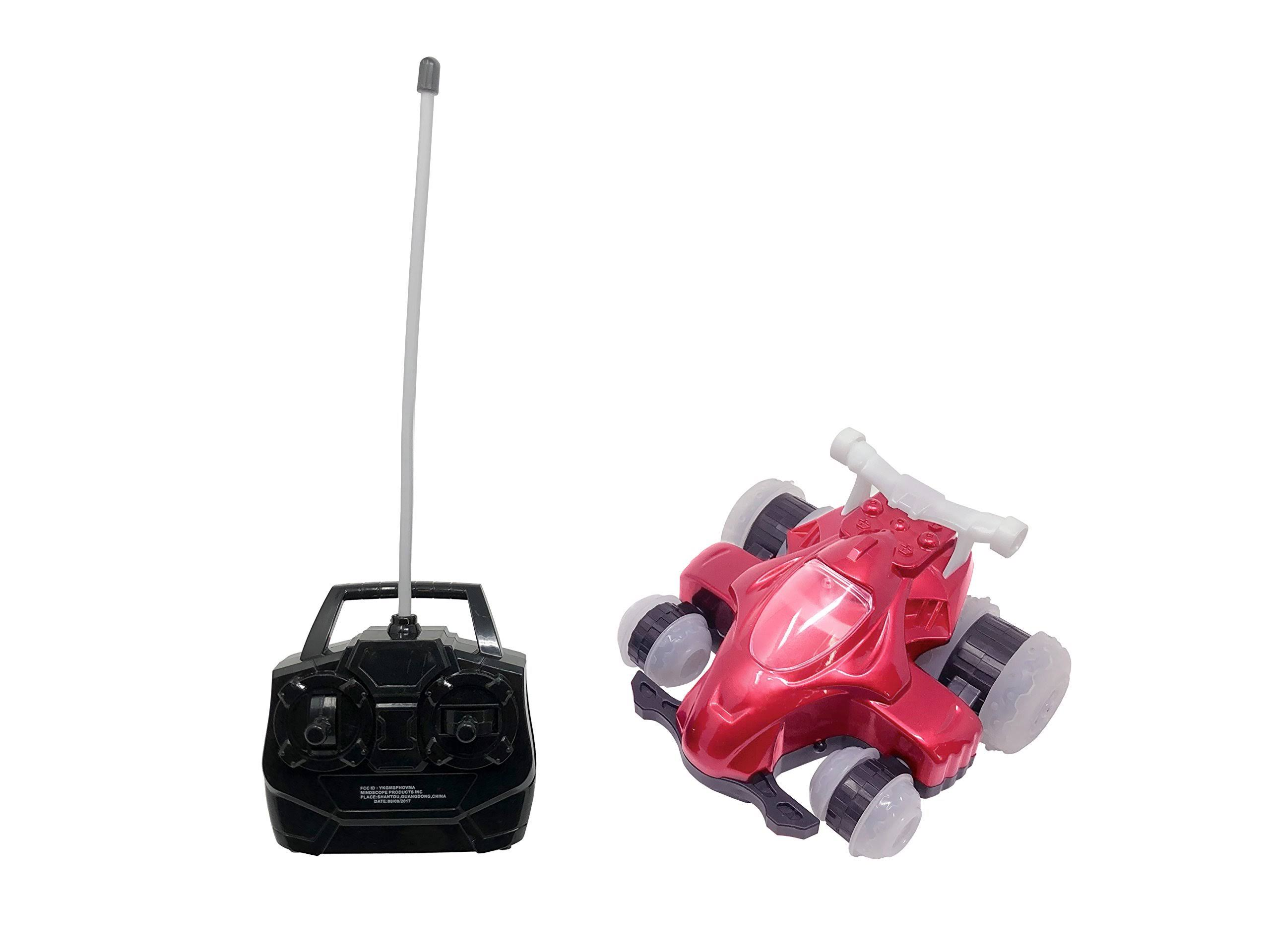Mindscope Red HoverQuad Mini Radio Control Stunt Action Light Up LED