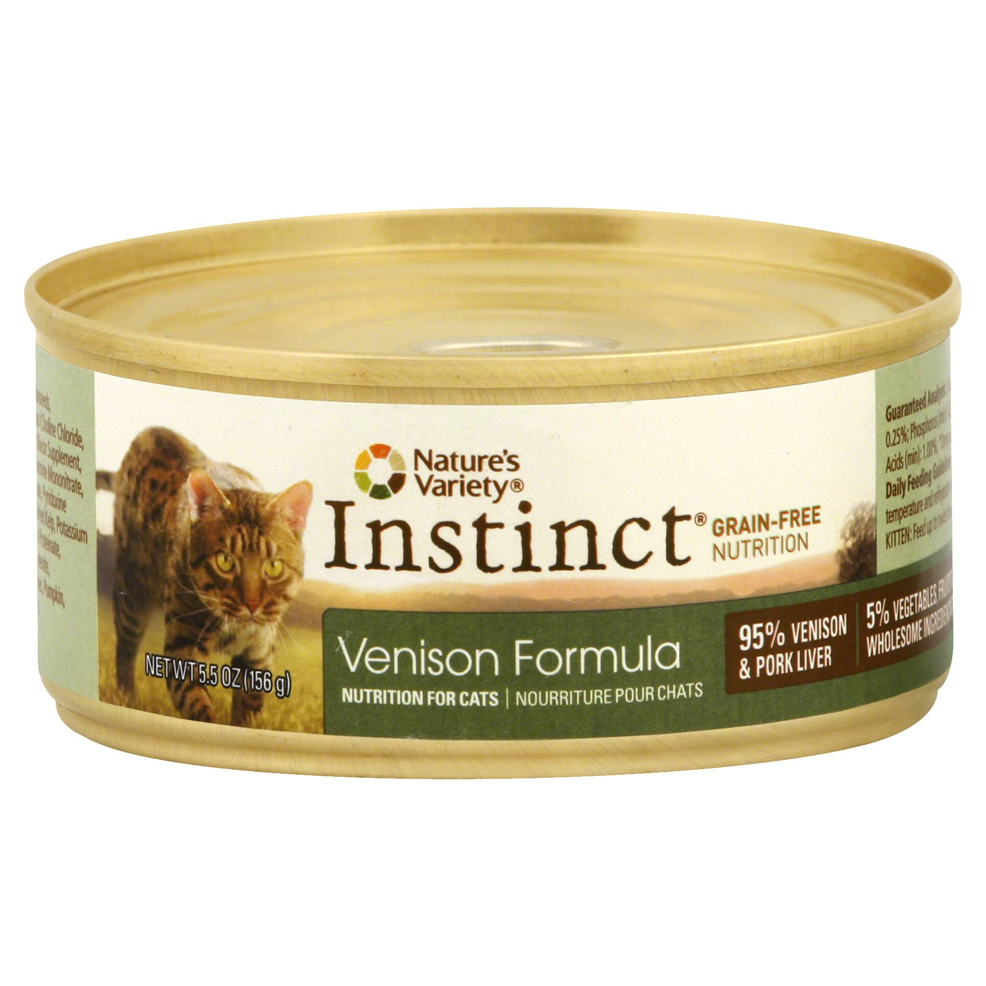 Nature's Variety Instinct Cat Food Venison Formula