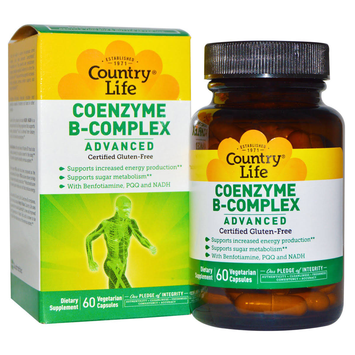 Country Life Coenzyme B Complx Advanced Capsules Supplement - 60 Count