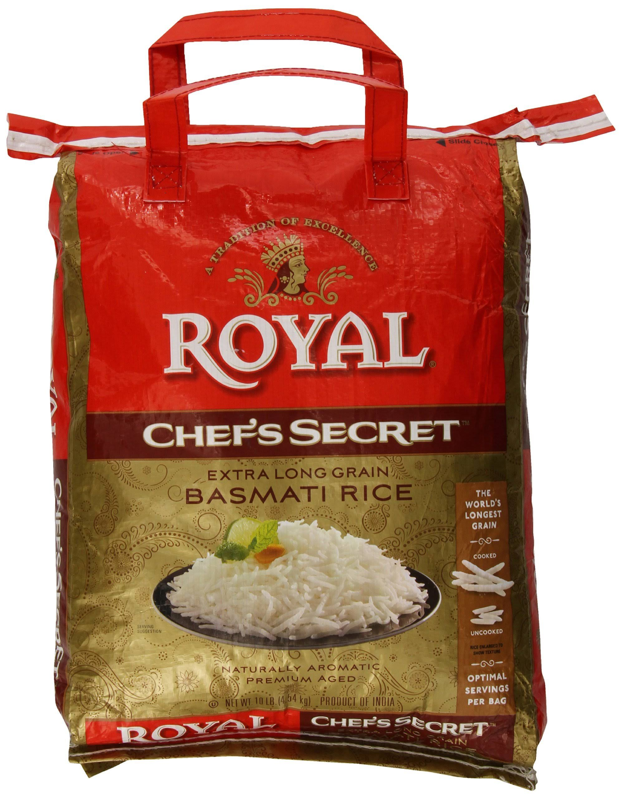Royal Chef's Secret Extra Long Grain Basmati Rice - 10lbs