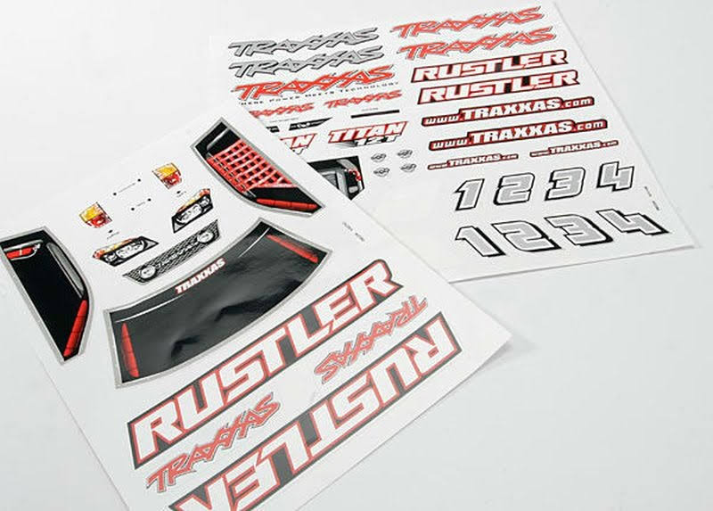 Traxxas 3716 RC Vehicle Decal Sheets - Rustler