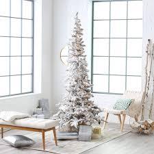 7ft Black Pencil Christmas Tree by Classic Flocked Slim Pre Lit Christmas Tree Hayneedle