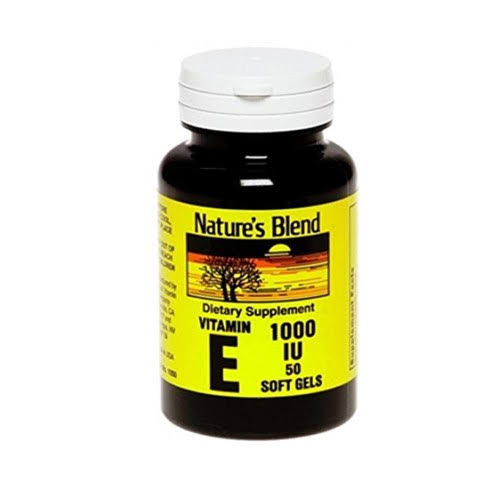 Nature's Blend Vitamin, E 1000 IU, Softgels, 50 EA