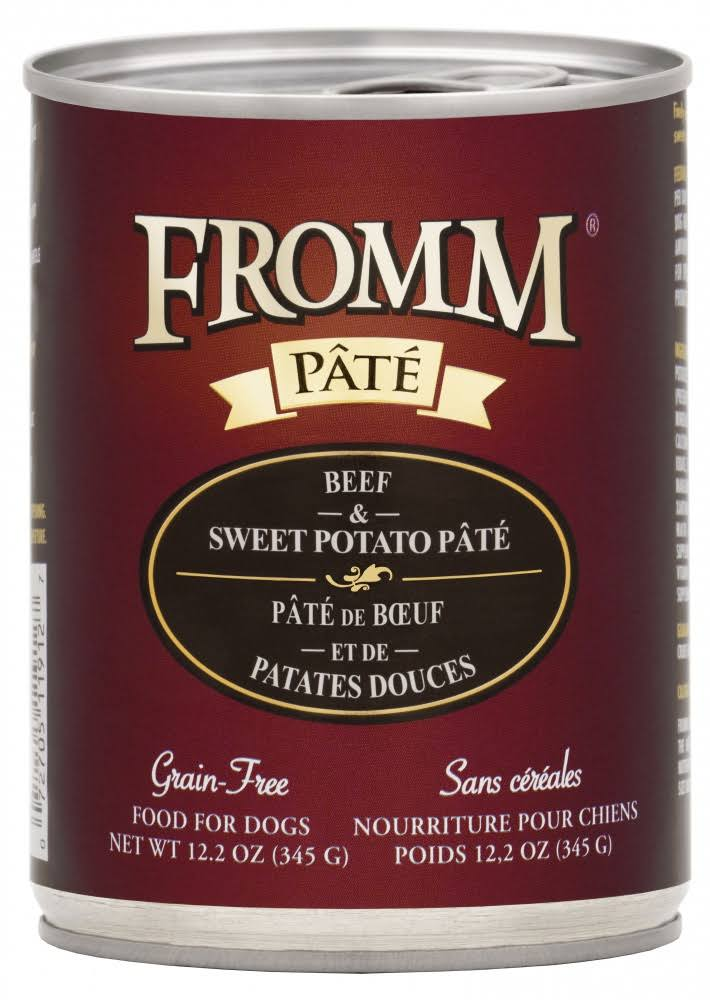 Fromm Grain Free Beef & Sweet Potato Pate | Dog Food 12.2 oz