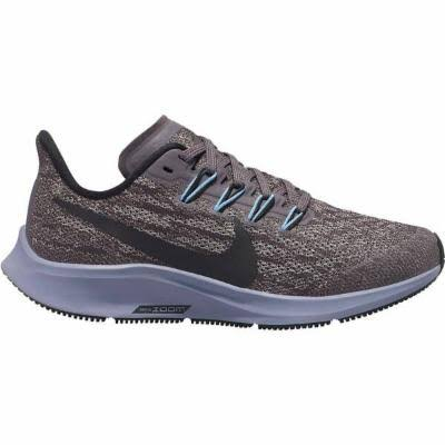 Nike Kids Air Zoom Pegasus Running Shoe - Thunder Grey, Black, Pumice and Stellar Indigo, Size 36