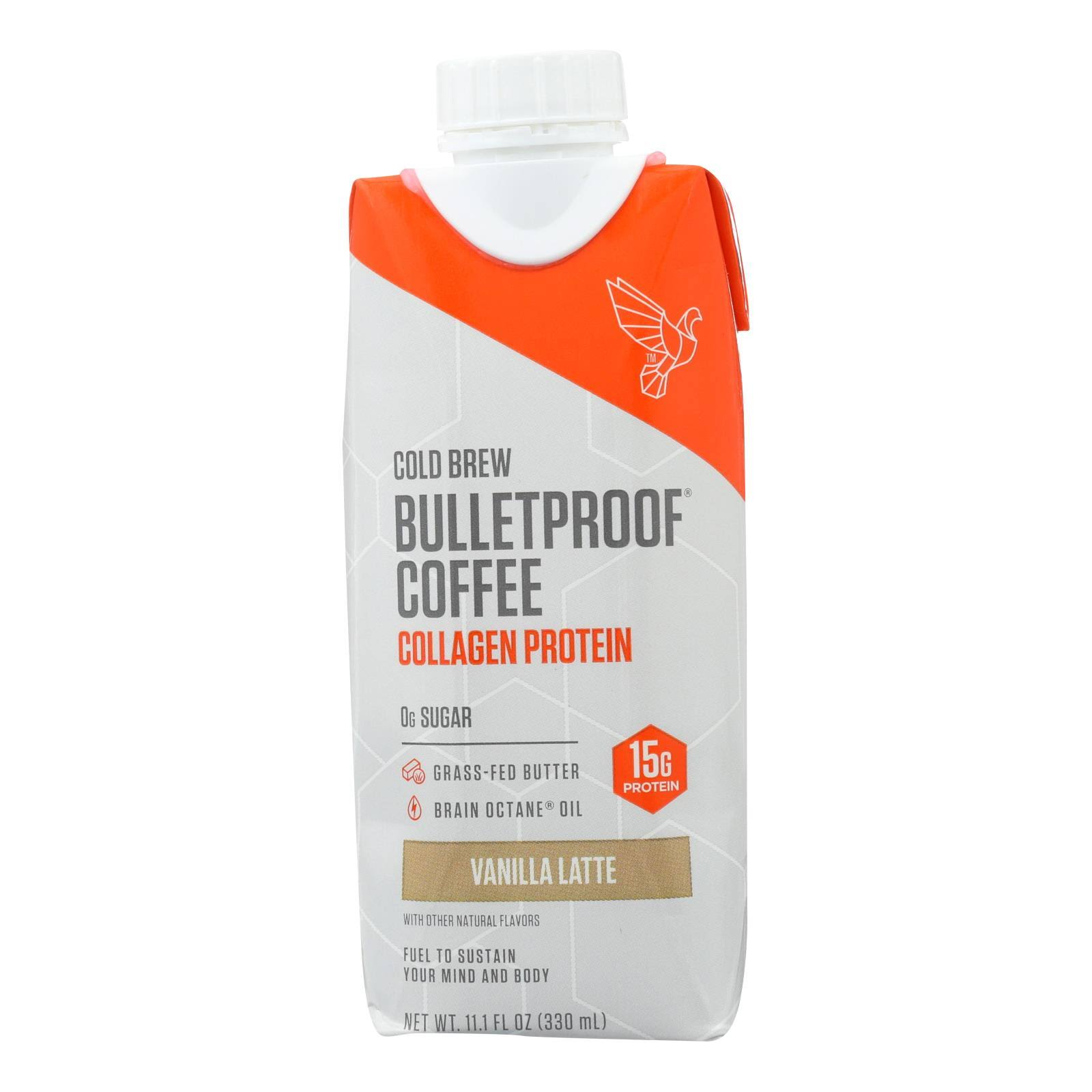 Bulletproof Cold Brew Coffee Collagen Protein Vanilla Latte, 11.1 fl oz