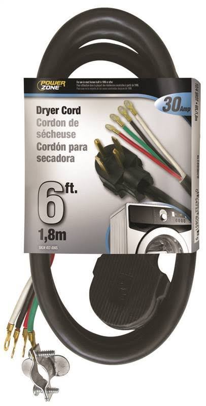 Powerzone Dryer Cord - 30A, 1.8m