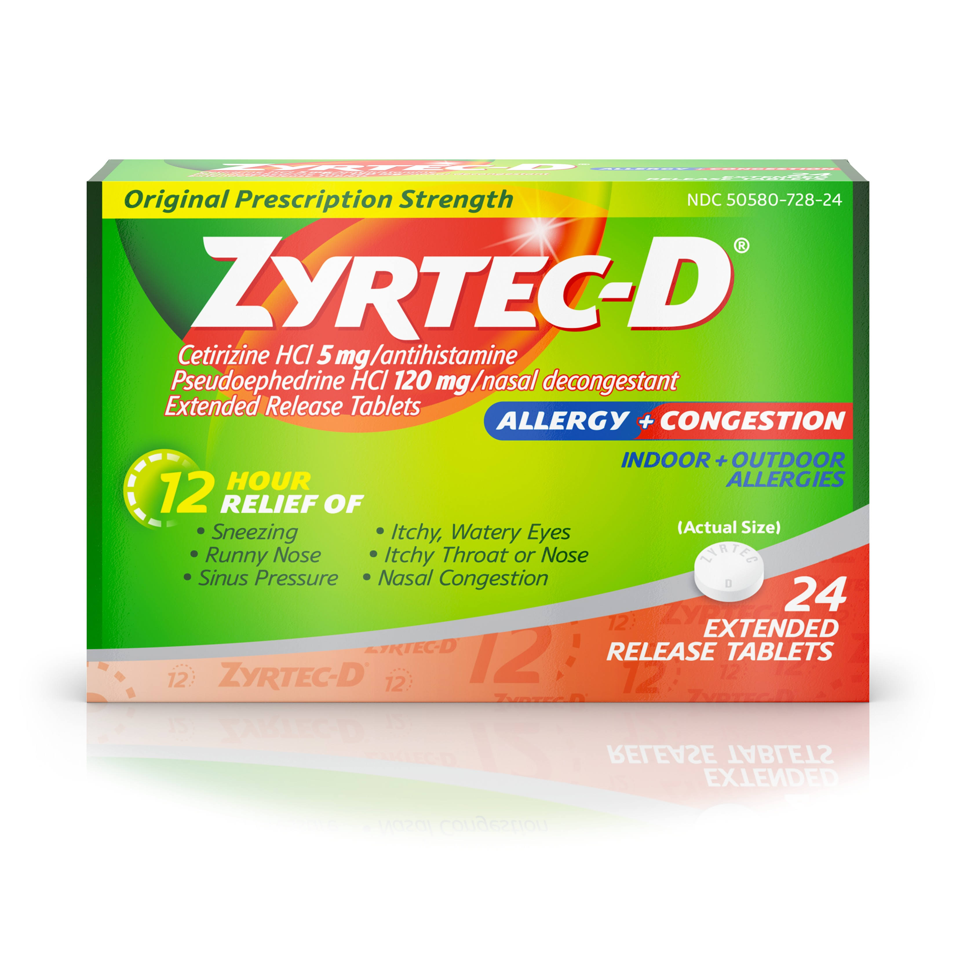 Zyrtec-D Extended Release Tablets