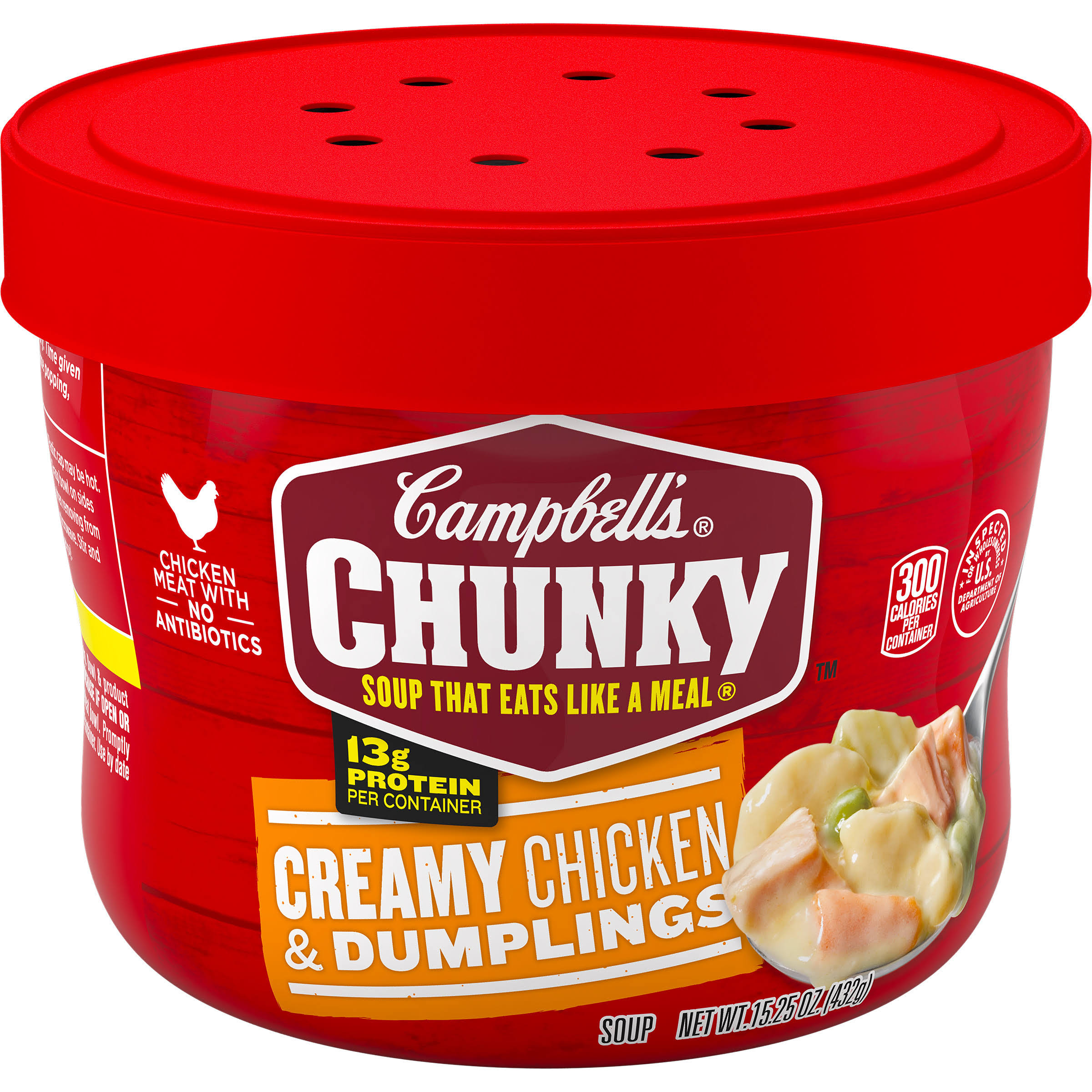 Campbell's Chunky Creamy Chicken & Dumplings Soup - 15.25 oz