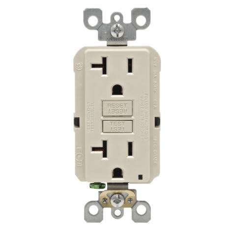Leviton Receptacle - 20A, 125V, Light Almond