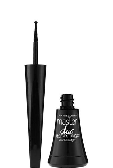 Maybelline New York Eye Studio Master Duo Glossy Liquid Liner - Black Lacquer