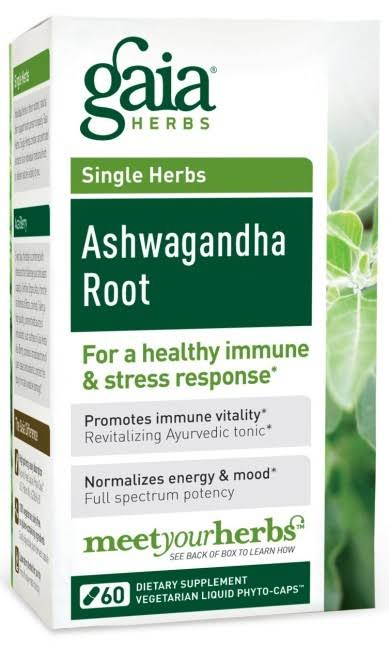 Gaia Herbs Ashwagandha Root Dietary Supplement - 60 Capsules