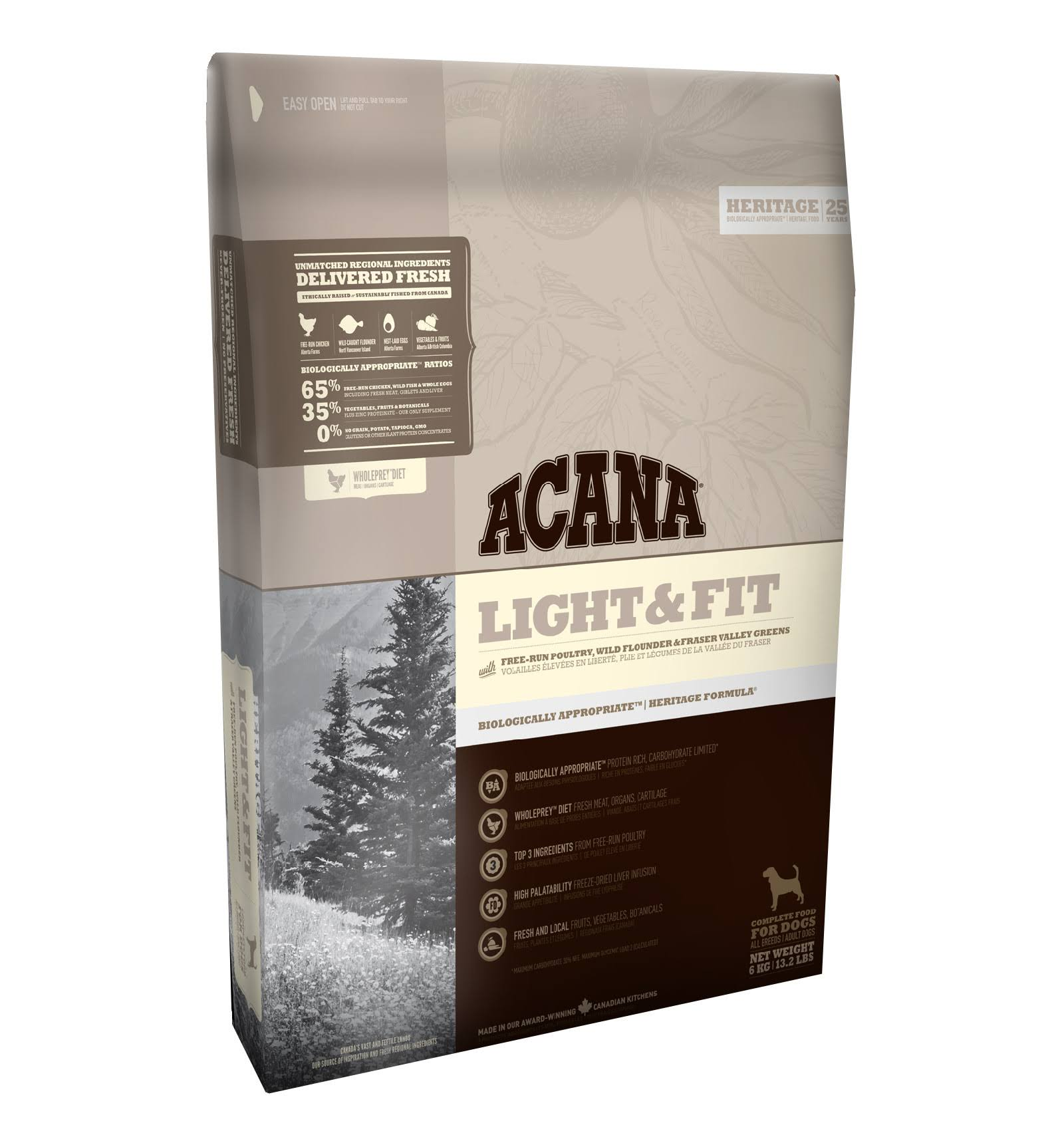 Acana Heritage Light & Fit Dog Food 6kg