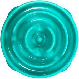 Outward Hound Fun Feeder Dog Bowl - Small, Teal