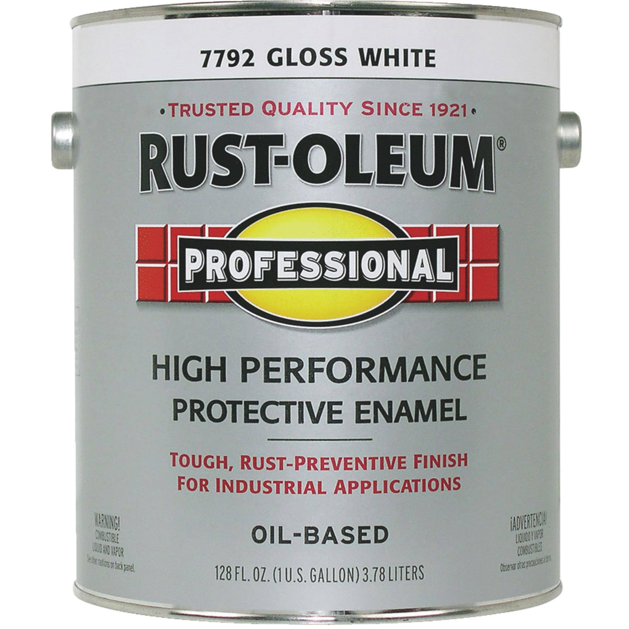 Rust-Oleum 7792-402 Professional Protective Enamel - 1gal, Gloss White