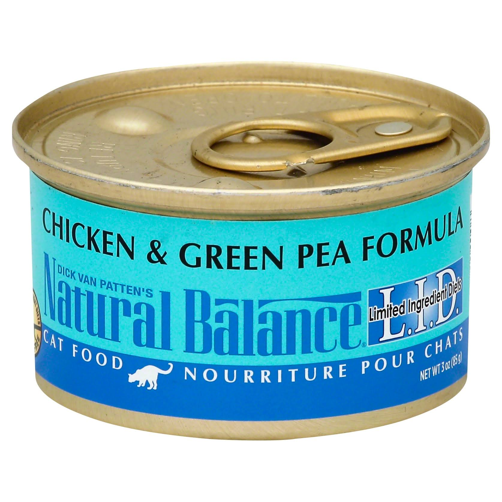 Natural Balance Limited Ingredient Diets Wet Cat Food - Chicken and Green Pea Formula, 3oz