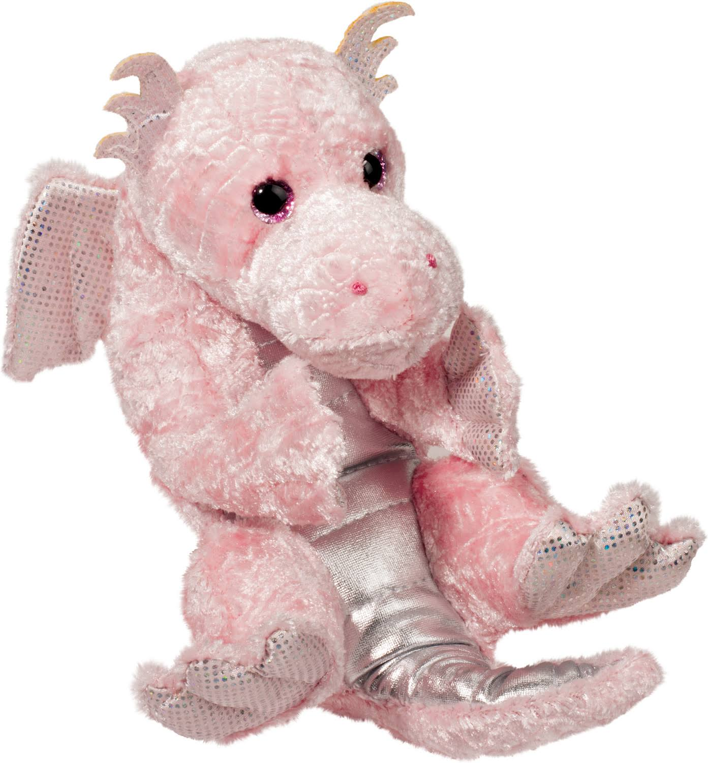 Douglas Plush Pink Dragon Lil' Handful Stuffed Animal