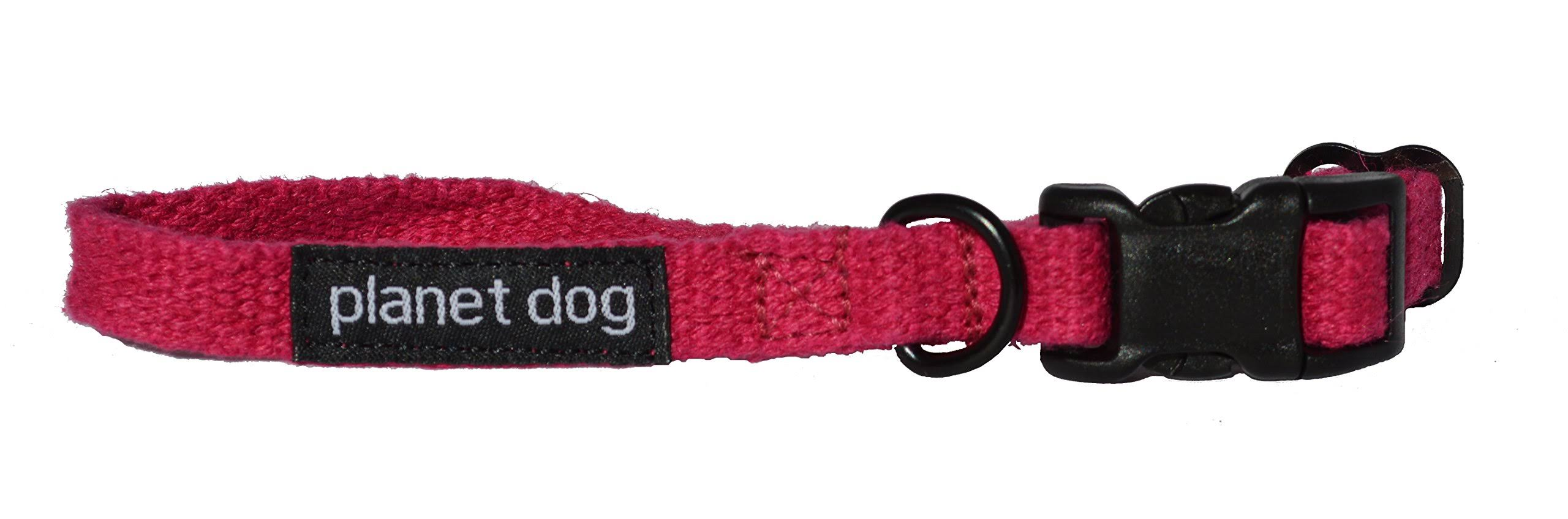 "Planet Dog Hemp Adjustable Collar - Pink, Small, 9"" to 13"""