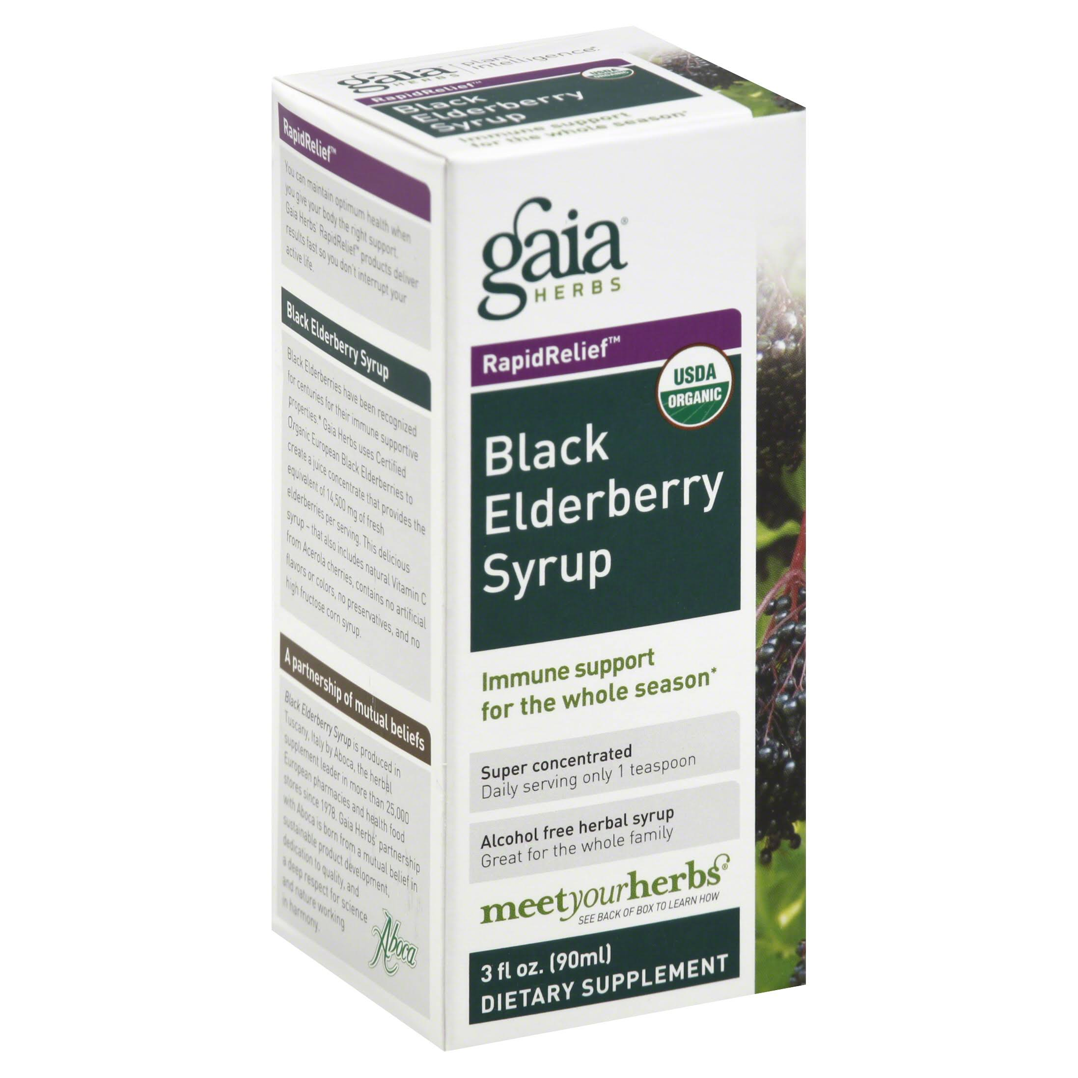 Gaia Herbs Black Elderberry Syrup - 3 fl oz bottle