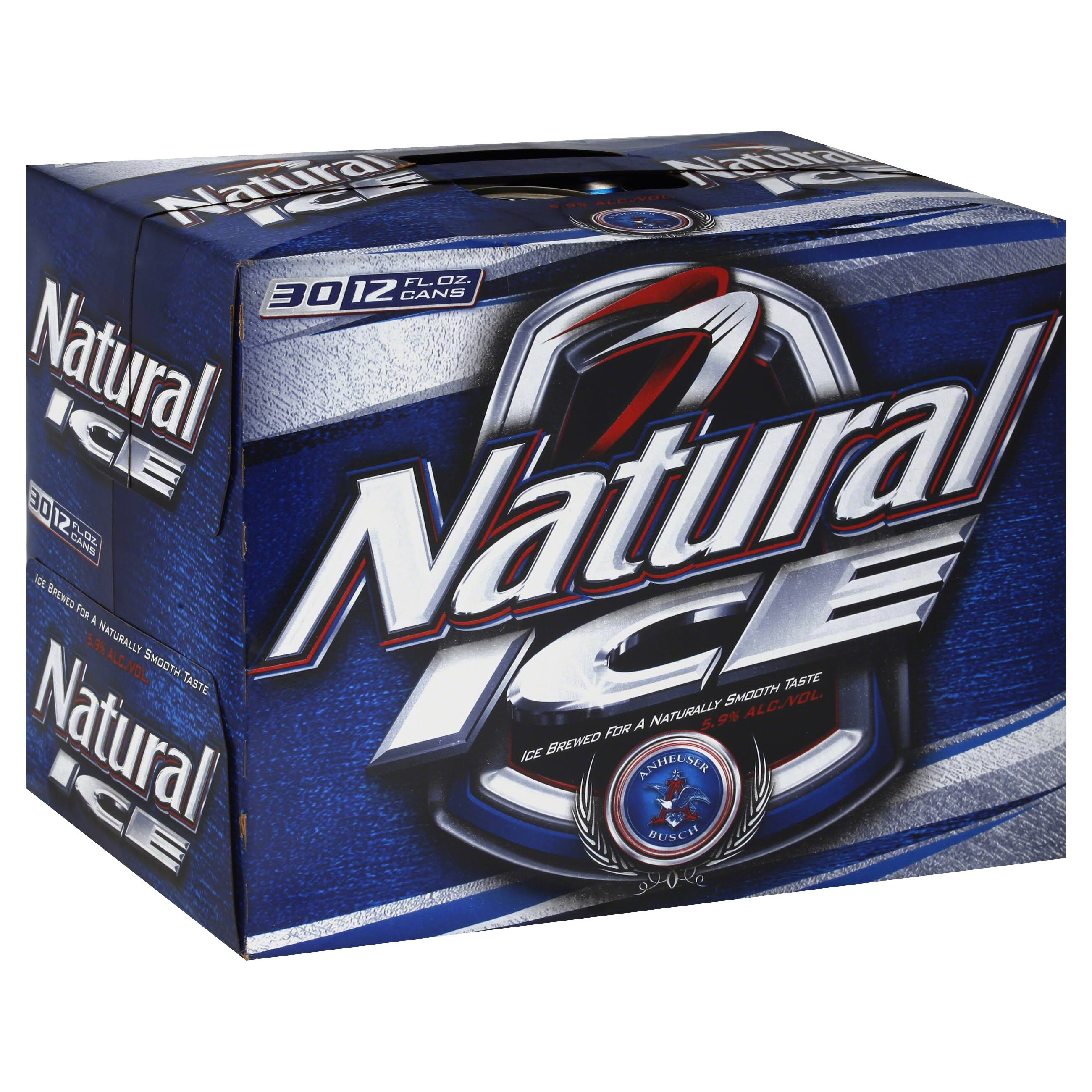 Natural Ice Lager - 30 pack, 12 fl oz cans