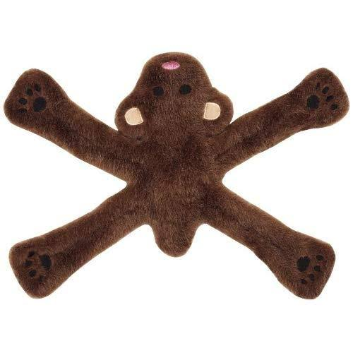 Doggles Plush Pentapull Bear Dog Toy - Brown
