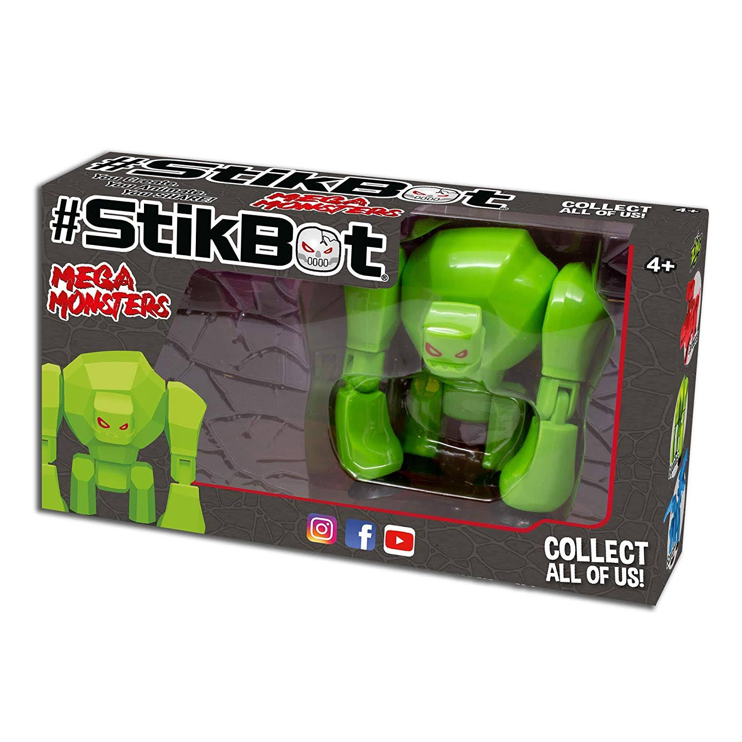 StikBot Gigantus Mega Monsters Toys - Green