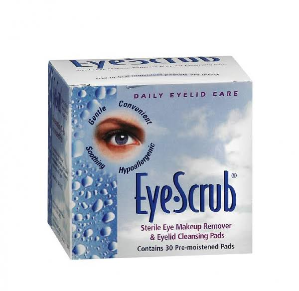 Eye Scrub Sterile Eye Makeup Remover and Eyelid Cleansing Pads - 30ct
