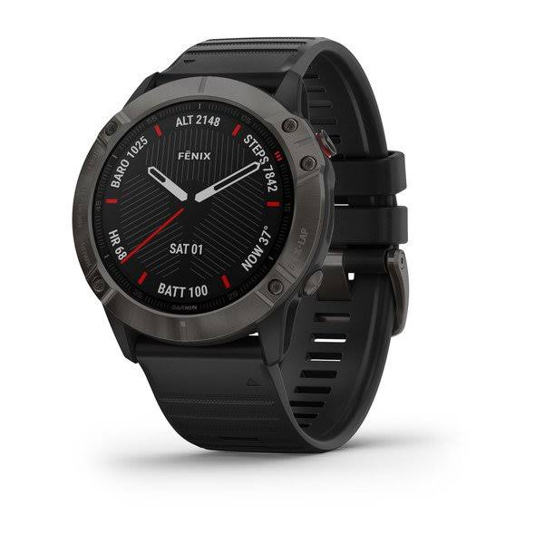 Garmin fenix 6X Sapphire - Sport Watch with Heart Rate Monitor - Black