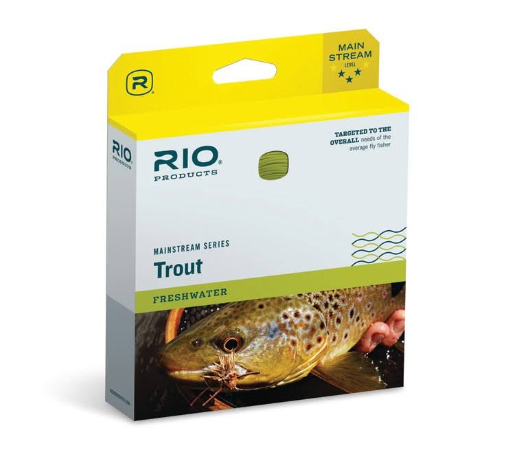 Rio Mainstream Trout Floating Fly Line - Lemon Green