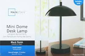 Mainstays Floor Lamp With Reading Light Assembly by Mainstays Touch Control Mini Dome Lamp Black Walmart Com