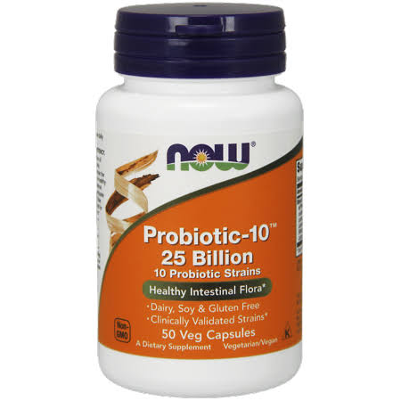 Now Foods Probiotic-10 25 Billion - 50 Veg Capsules