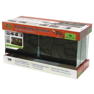 Aqueon Products - Glass Zil Front Open Terrarium 20L