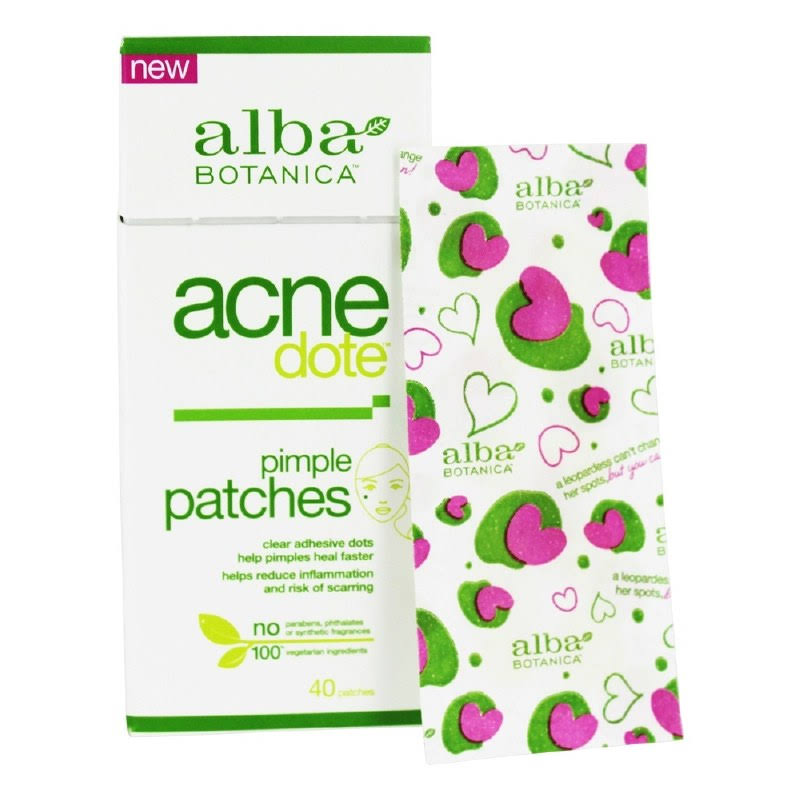 Alba Botanica Acne Dote Pimple Patches - 40 Little Patches, Pack of 2