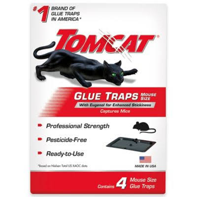 Tomcat Glue Trap - Mouse Size, 4 Glue Traps