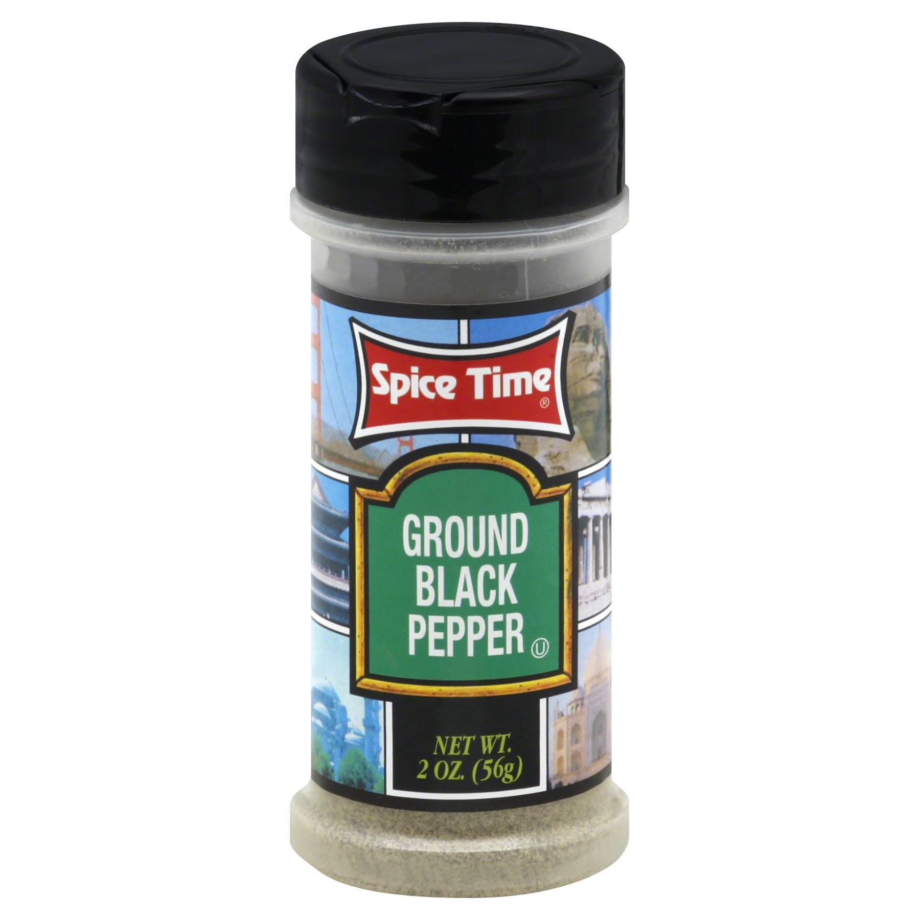 Spice Time Ground Black Pepper - 2oz