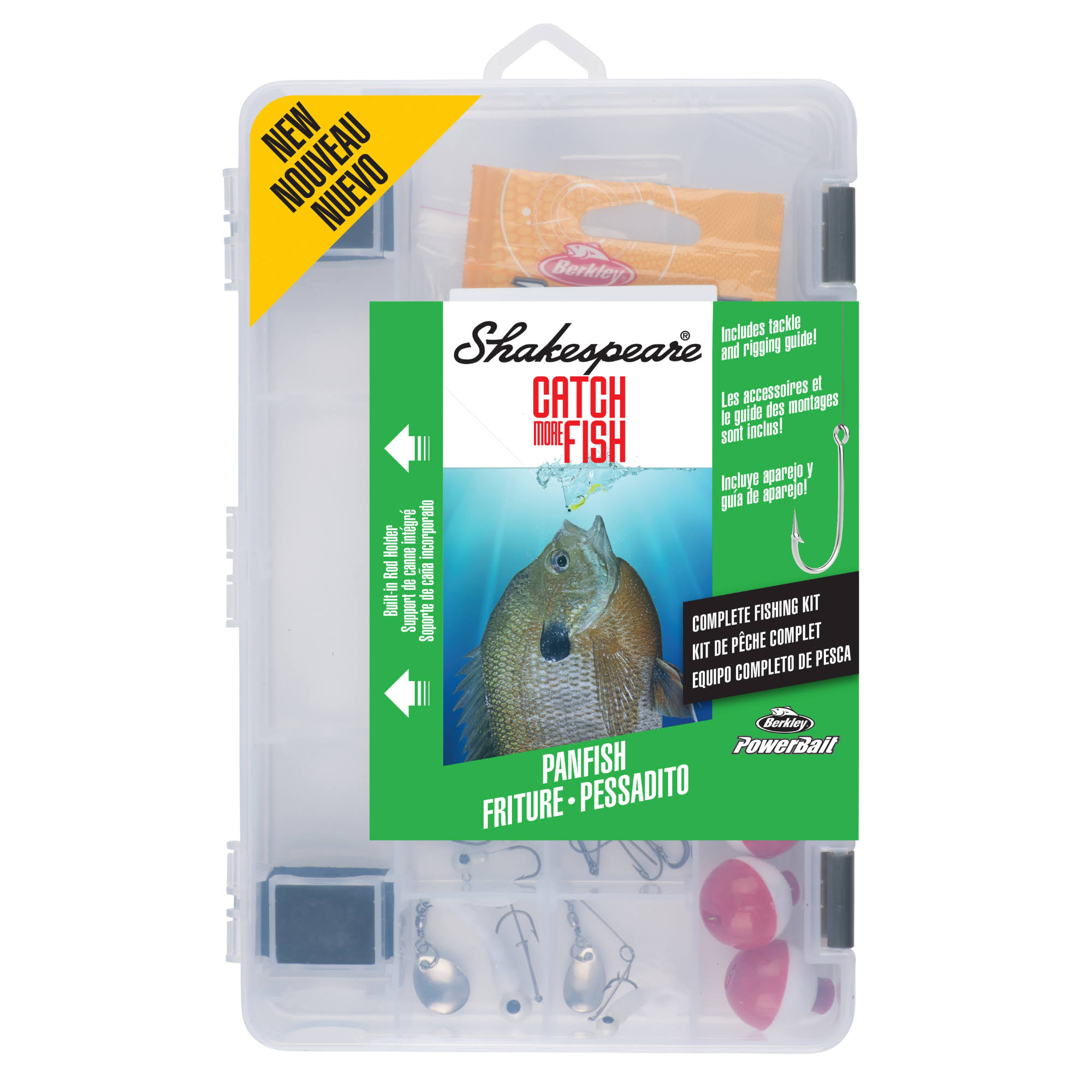 Shakespeare Catch More Fish Tackle Box Kit, Other
