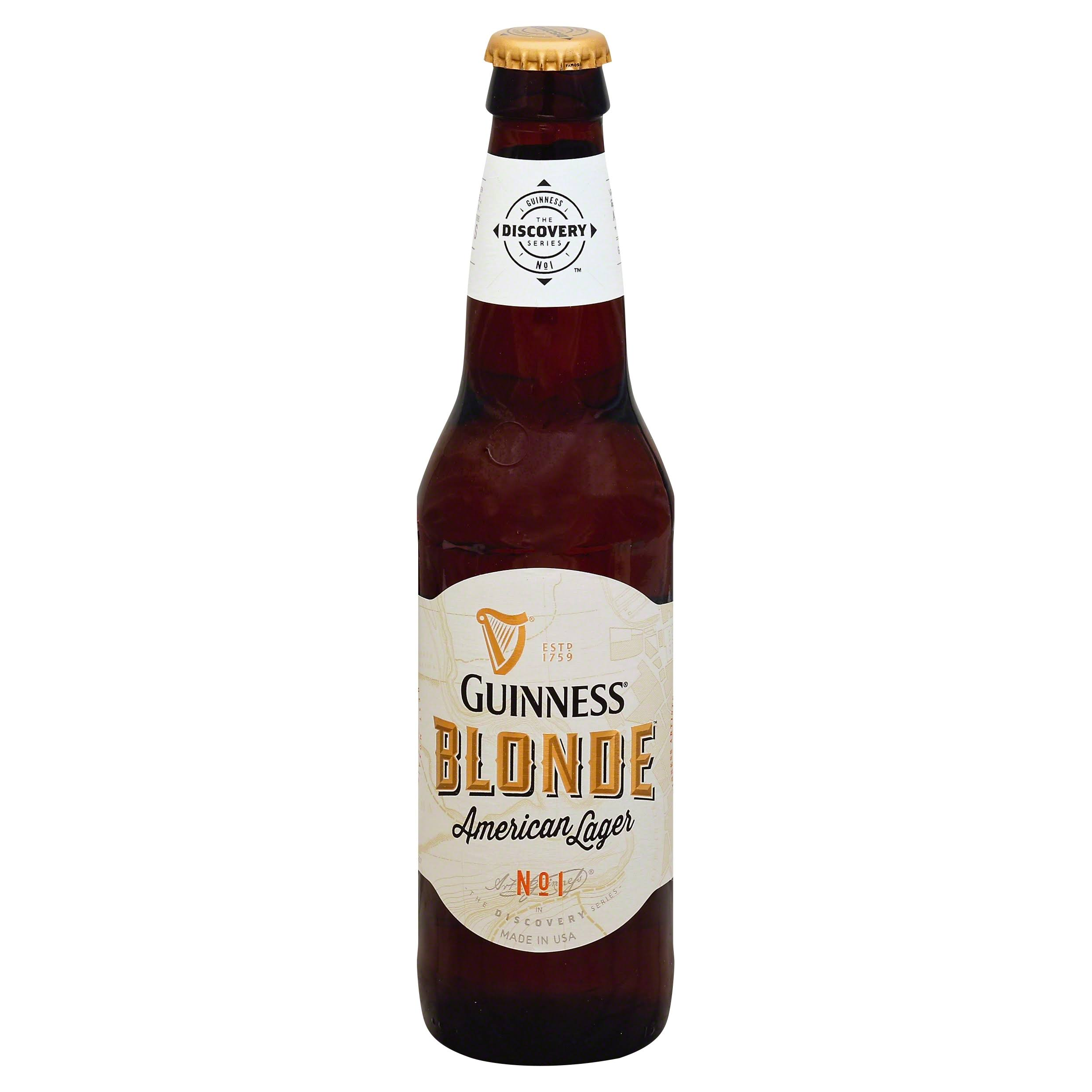 Guinness Blonde American Lager Beer - 6 pack, 12 fl oz bottle