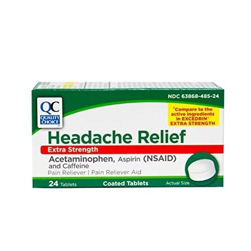 Quality Choice QC Headache Relief Excedrin 24TB, Size: Pack of 1