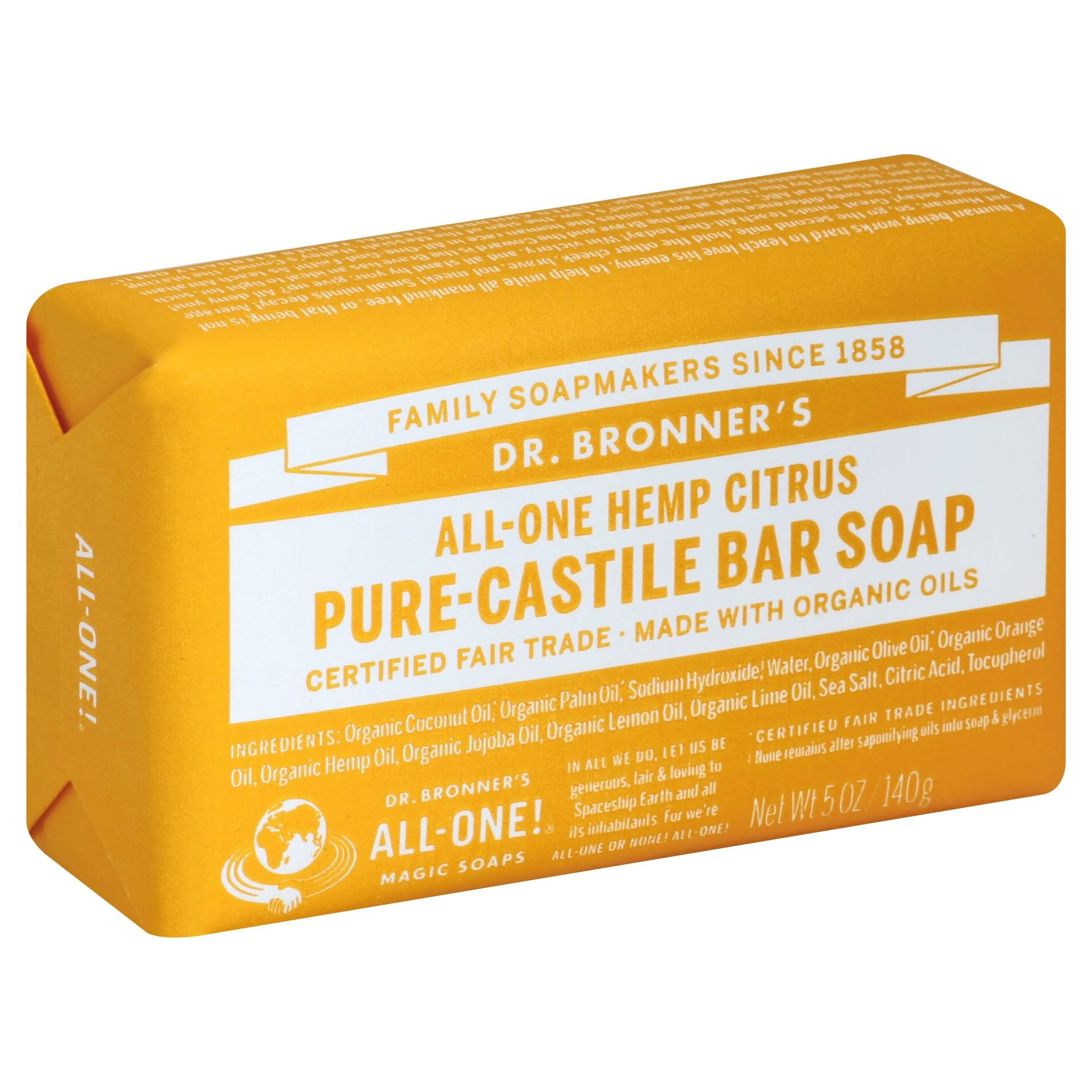 Dr. Bronner Magic Soap Bar Citrus Orange - 140g