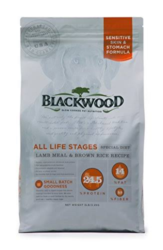 Blackwood Pet Food 22235 All Life Stages, Special Diet, Sensitive Skin, Lamb Meal & Brown Rice Recipe, 30lb.