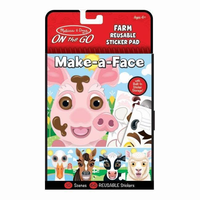 Melissa & Doug Make-a-Face Farm Reusable Sticker Pad