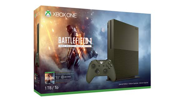 Xbox One S 1TB Console Battlefield 1 Edition